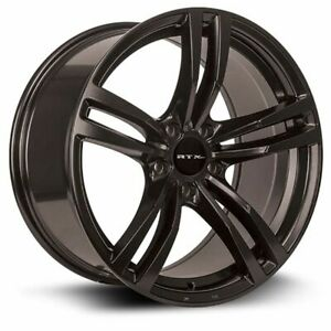 One (1) 17x8 RTX OE Graz ET 35 Black 5x112 Wheel Rim