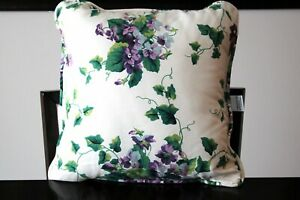 Waverly Garden Room Square Decorative Sweet Violets Floral Pillow 16x16 EUC