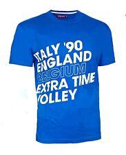 MENS Large ENGLAND Italia 90 World Cup T Shirt Football Retro Vintage Rare wo