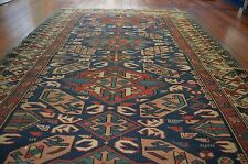 VERY RARE ANTIQUE CAUCASIAN KUBA PILE RUG Circa 1900 GREAT VEGETABLE DYES