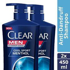 450ml x 2 : Clear Men Shampoo Anti-Dandruff Cool Sport Menthol