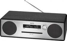 estéreo con DAB+ Radio, CD, MP3, Bluetooth, USB, entrada AUX AEG MC 4469 Negro