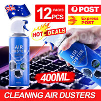 OZ 12 x 400ml Compressed Air Duster Spray Can Laptop Keyboard Mouse Cleaner
