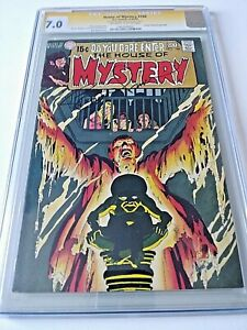 HOUSE Of MYSTERY #188 CGC 7.0 signed by BERNIE WRIGHTSON Signature Series