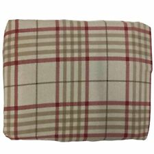 Cuddle Duds Flannel Sheet Set Khaki & Red Plaid King Bed Sheets Bedding