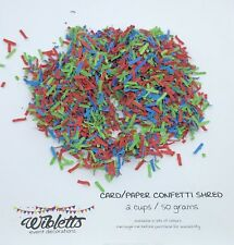 CONFETTI SHRED TABLE SCATTER PINÃTA FILLER. BRIGHT RED GREEN BLUE PJ MASKS THEME