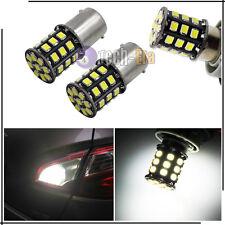 2x High Power White 1156 P21w BA15s 33-SMD LED Bulbs for Backup Reverse Lights