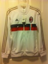 ADIDAS Official AC MILAN ANTHEM TRACK JACKET White G82099 U.S MENS SMALL $85