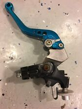 09 10 11 12 KAWASAKI ZX6R LEFT LEVER PERCH BLUE SHORTY ADJUSTABLE SWITCH OEM