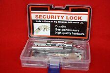 4x70mm Security Thumb Turn Cylinder Euro Lock PVC Doors Anti Pick Nickel & 5Keys