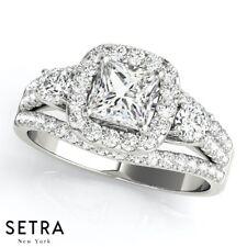 Halo Vintage Semi Mount Engagement Ring For Princess Cut Diamond