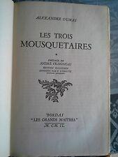 Les trois mousquetaires Dumas, Bordas les grands maîtres 1949, 2/2 vol.