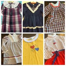 Vintage Girls Clothes 5 6 Smocked Dress Lot Tops Health Tex 70s 80s 90s A16