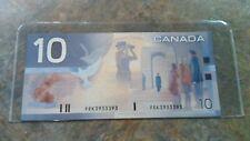 2001 Bank of Canada $10 Dollar note Knight/Dodge FEK3933393  2 digit RADAR