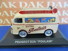 Die cast 1/43 Modellino Furgone Pubblicitario Peugeot D3A Chocolat Poulain