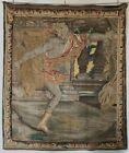 17th c French 7' Tapestry of Greek Mythology's Hippomenes' Courtship of Atalanta
