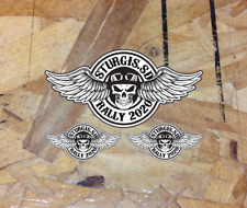 "Sturgis South Dakota Rally 2020 Skull Wings Sticker Decal Motorcycle 4""- 3 for 1"