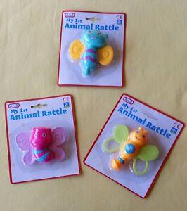 Brand New Baby Bug Shape Rattle Teether