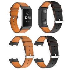 Leder Uhrband Watch Band Uhrenarmband Uhrenband Armband für Fitbit Charge 3