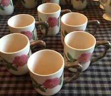 Franciscan Dessert Rose Set Of 6 Grand mugs. Excellent Condition