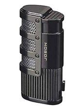 JOBON Premium Triple Jet Flame Refillable Butane Torch Lighter~Gunmetal Color