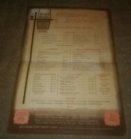 FRANK UNCLE'S Toledo Ohio vintage RESTAURANT MENU 1970's BROADWAY AVENUE antique