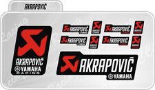 Kit 10 Adesivi Akrapovic YAMAHA RACING resistente al calore