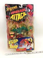 Vintage ToyBiz Spider-Man Sneak Attack Flip 'N Trap SANDMAN Action Figure