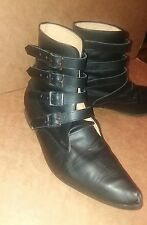 size 11 mens winklepickers black buckle goth authentic handmade gothic boots