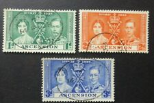 Ascension 1937 Coronation SG 35/37 Fine Used