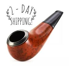 Classic Tobacco Smoking Pipe / Bowl Made From Pear Wood, Glass Stone Alternative