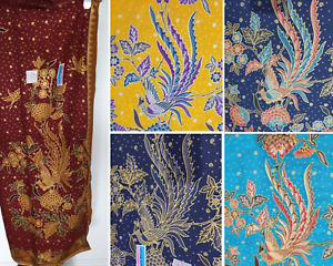 Sarong Cotton Fire Birds Fabric Gold Craft Fabric Home Deco Tablecloth Shawl