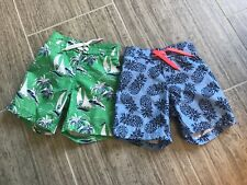 janie and jack lot 2 boys swimming trunks 18-24 EUC