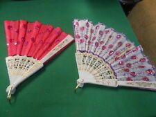 Great Collectible Set of 2 LADIES FANS
