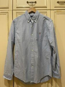 Ralph Lauren Polo Shirt  Blue - Medium- Slim Fit