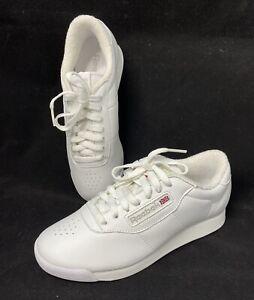 Reebok Women's Princess Classic Design Sneakers White Size 5.5 USA New