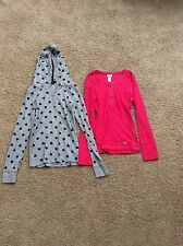 EUC ONE Long Sleeved JUSTICE Top Girls Size 12 Bright Pink~ Super Cute!!