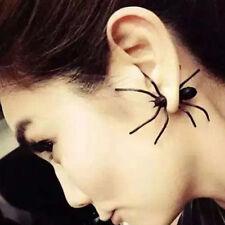 Punk Men Women Black Spider Charm Ear Studs Earrings Jewelry Scary 1pc
