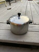 Vintage Farberware 4 Qt Aluminum Clad Stainless Stock Pot Sauce Pan with Lid