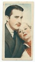 1934 Godfrey Phillips Film Stars Card - #32 John Boles and Gloria Stuart