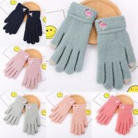 Ladies Womens Gloves Unicorn  Knitted Thermal Fleece Lined Winter Warm Gloves UK