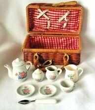 Child's Picnic Basket with China Tea set