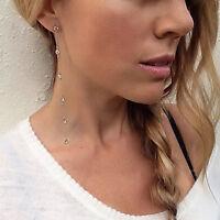 Elegant Fashion Gold/Silver Plated Women Crystal Rhinestone Ear Stud Earrings