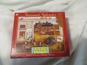 Puzzle Charles Wysocki Turkey in the Straw 1000 PC  Seasonal Splendor BRAND NEW