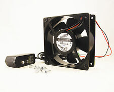 120mm 38mm Case Fan Kit 110V 115V 120V AC 129CFM Ball Brg PC Cooling 12038 1326*