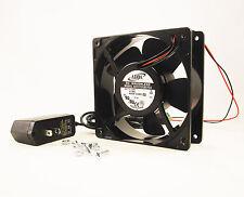 120mm 38mm Case Fan Kit 110V 115V 120V AC 129CFM Ball Brg PC Cooling 12038 1326*