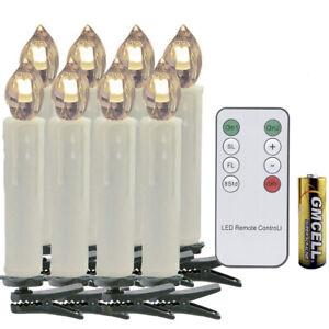 LED Weihnachtskerzen kabellose Christbaumsdeko 10X Baumkerzen mit Batterie