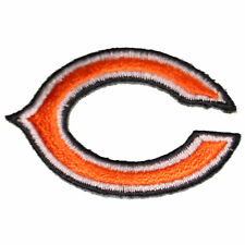 """The Chicago Bears 'C' Iron On Patch 1.875"""" by 1.25"""" 100% embroidered Team Logo"""