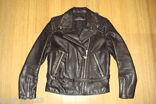 Vtg HEIN GERICKE Harley Davidson Padded Leather Motorcycle Jacket Biker Size 38