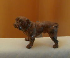 GERMAN COLD PAINTED METAL BULLDOG MADE BY HEYDE BULLDOG FIGURE BULLDOG ORNAMENT